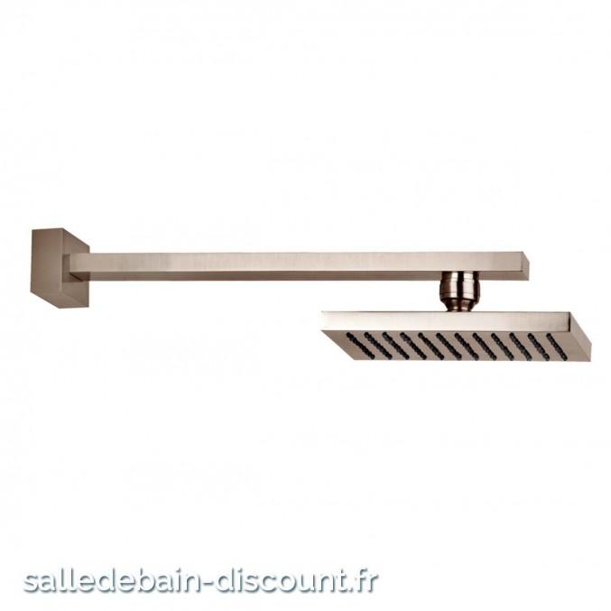 GESSI RETTANGOLO 20148-CIEL DE PLUIE 216x140mm ORIENTABLE ANTICALCAIRE AVEC BRAS MURAL