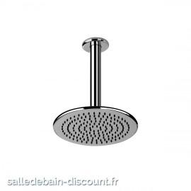 GESSI GOCCIA 33762-CIEL DE PLUIE chromé de diamètre 216mm AVEC BRAS AU PLAFOND ORIENTABLE ANTICALCAIRE