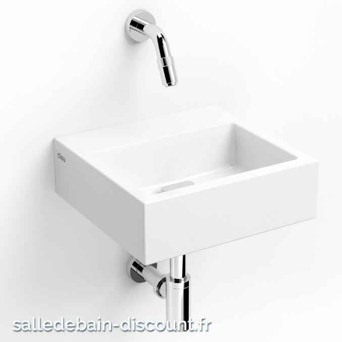 CLOU FLUSH 1-LAVE-MAINS en céramique blanche CL_03.03011