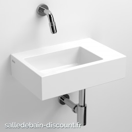 CLOU FLUSH 2-LAVE-MAINS en céramique blanche-CL_03.03021