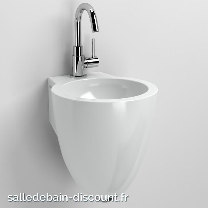 CLOU FLUSH 6-LAVE-MAINS d'angle en céramique blanche-CL_03.03060