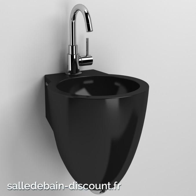 CLOU FLUSH 6-LAVE-MAINS d'angle en céramique noire brillante-CL_03.12062