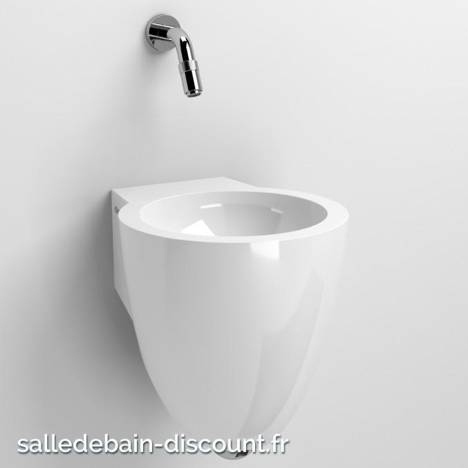 CLOU FLUSH 6-LAVE-MAINS en marbre minéral blanc-CL_03.08061