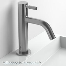 CLOU FREDDO 2-ROBINET rehaussé EAU FROIDE en inox brossé pour lave-mains-CL_06.03.001.41.L