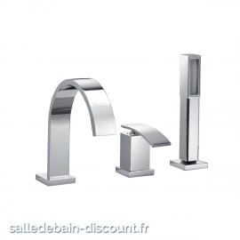 PAÏNI COLLECTION IOQUADRO-MITIGEUR BAIN/DOUCHE 3 TROUS OIQ00016