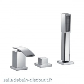 PAÏNI COLLECTION IOQUADRO-MITIGEUR BAIN/DOUCHE 3 TROUS OIQ00017